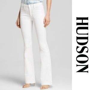 Hudson Taylor High Waist Flare Jeans White 29